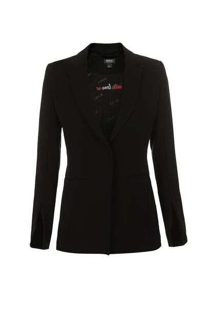 ONLY 2019 Women's Slim Fit Blazer |118108513, Black, large