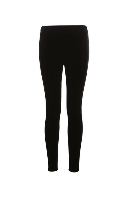 ONLY Women's Slim Fit Velvet Tight-leg Leggings|117365501, Black, large