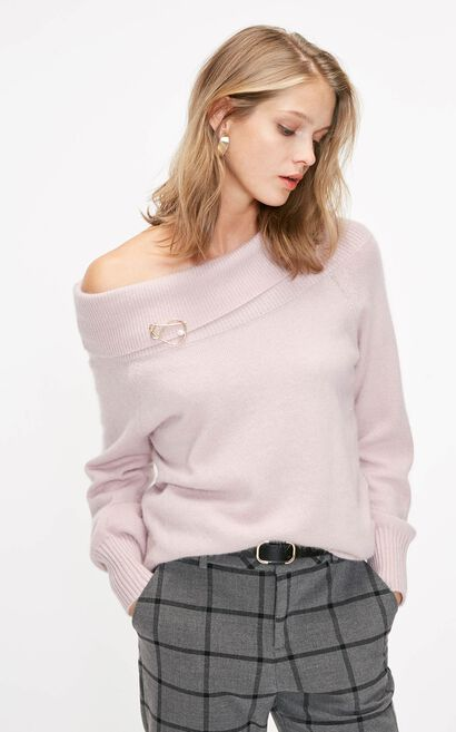 ONLY2019 women's winter new loose simple sweater | 119113509, Lavender, large