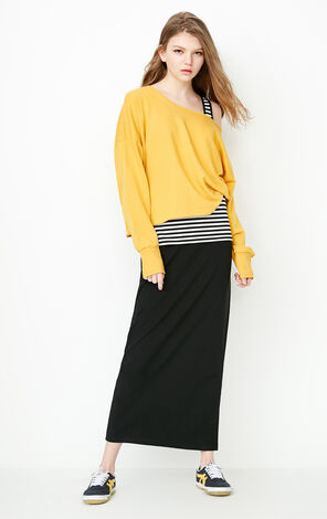 ONLY Spring and summer three-piece striped stitching dress female | 118161507