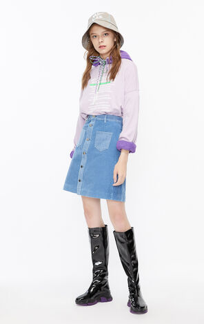 ONLY2019winterNew Corduroy Denim Skirt|119437503