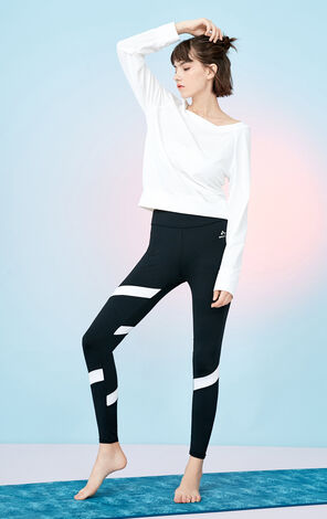 2019 ONLY women's PLAY sporty backless sporty long-sleeved T-shirt | 117402505