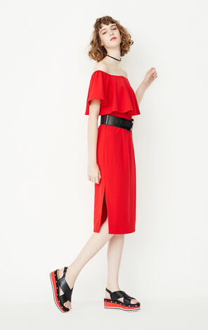 REPEAT NEIL FITTED DRESS(LOVE)