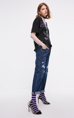 ONLY 2018 autumn new low waist ripped cropped  jeans | 118349584