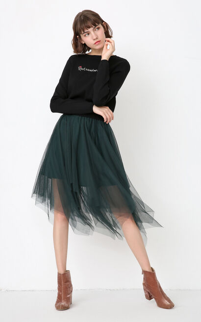ONLY Autumn new mesh two-piece knitted dress female | 117346532, Green, large