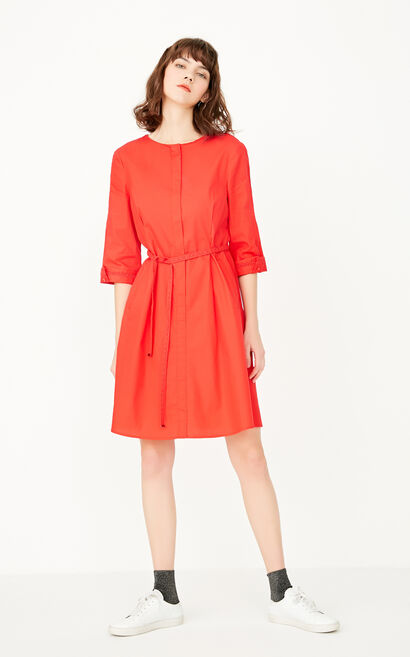REPEAT EBONY A-LINE DRESS(LOVE), Red, large