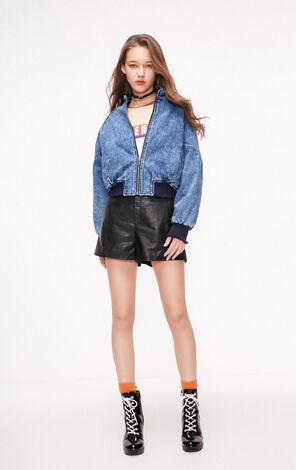 ONLY2019 women's winter new short loose denim cotton jacket | 119154503