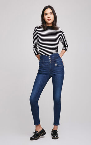 ONLY Spring New Women's Slim Fit High-rise Jeans|117132522