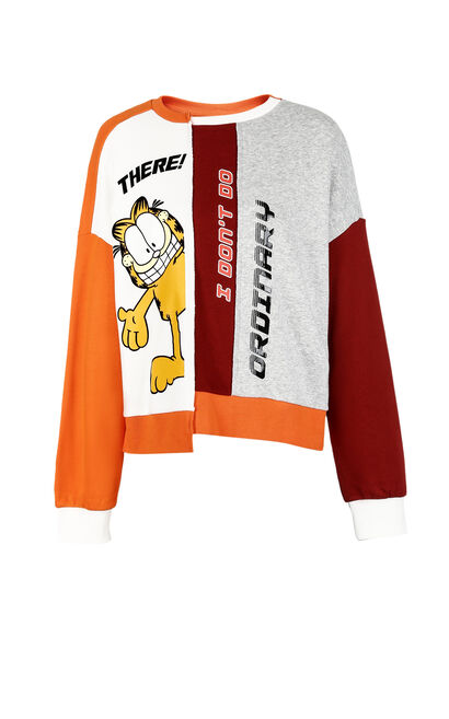 ONLY2020 Winter Garfield Pattern Pullover Sweatshirt |11839S564, , large