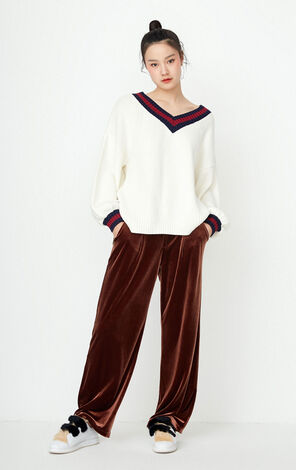ONLY Women's Autumn Low-high Knit Pullover |117313520