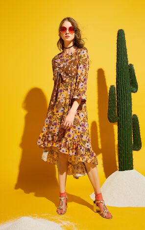2019 ONLY women's summer new floral fashion two-piece dress | 117307544