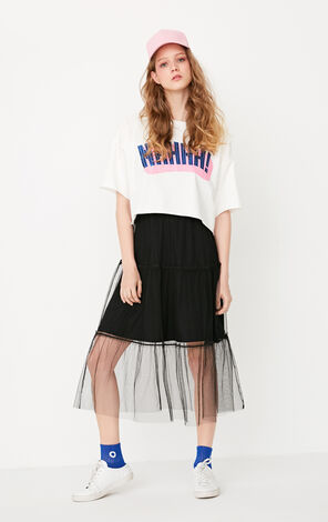 ONLY Summer Drop-shoulder Sleeves Spliced Two-piece Dress  117361503
