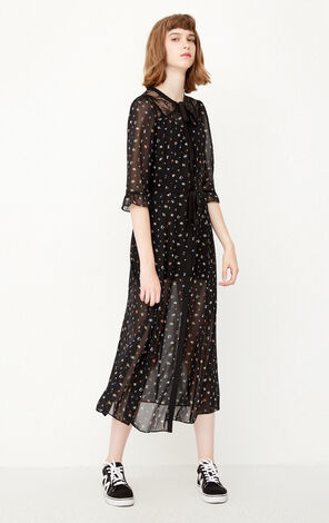ONLY Summer Floral Lace Chiffon Dress |117307563