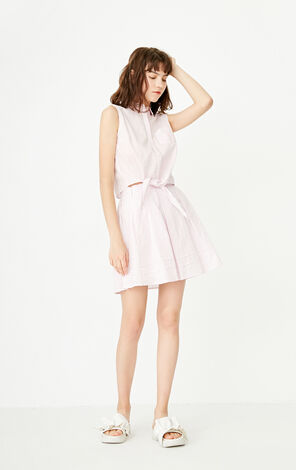 ONLY Spring Single-breasted Lace-up Two-piece Dress |117207501
