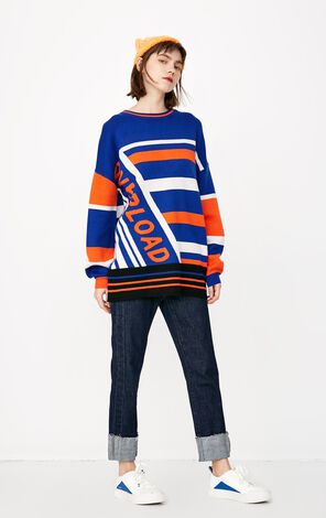 ONLY 2019 Women's Loose Fit Striped Knit |118113513