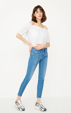 ONLY Summer New Women's Slim Fit Low-rise Crop Jeans|117249527