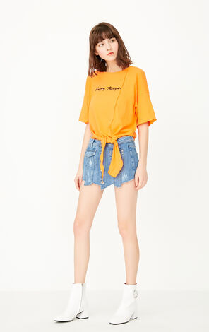 ONLY Women's Summer Letter Print Loose Fit T-shirt |117301539