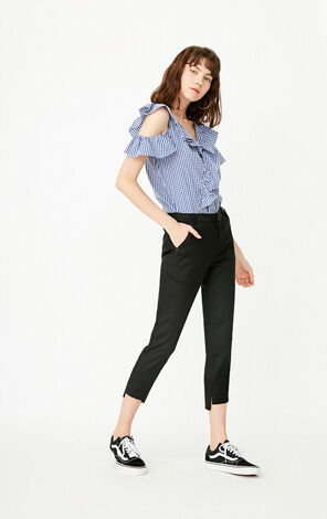 ONLY Women's Summer Loose Fit Pure Color Casual Crop Pants |11736J501