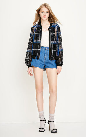 ONLY 2018 Women's Summer Lace Plaid Jacket |118336509