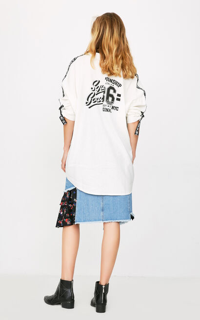 ONLY Women's Summer Loose Fit Printed Wind Coat |118136561, White, large