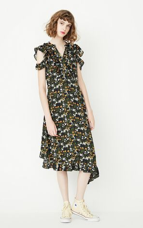 ONLY Women's Summer New Ruffled Chiffon Dress|117307582