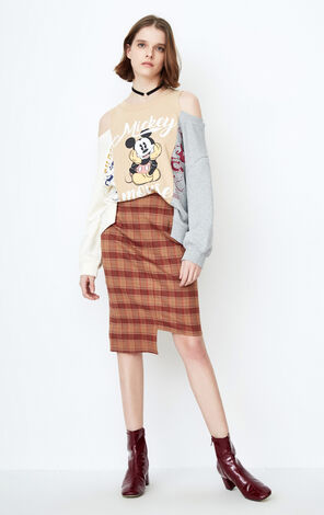 ONLY  early spring new Disney cooperation stitching strapless sweater women | 11819S565