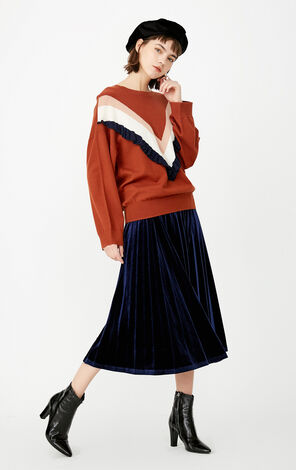 ONLY Autumn Women's Loose Fit Ruffled Striped Shirt|117424508