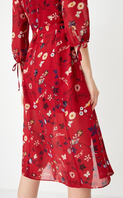 ONLY autumn new floral two-piece shirt dress women | 117331504, Red, large