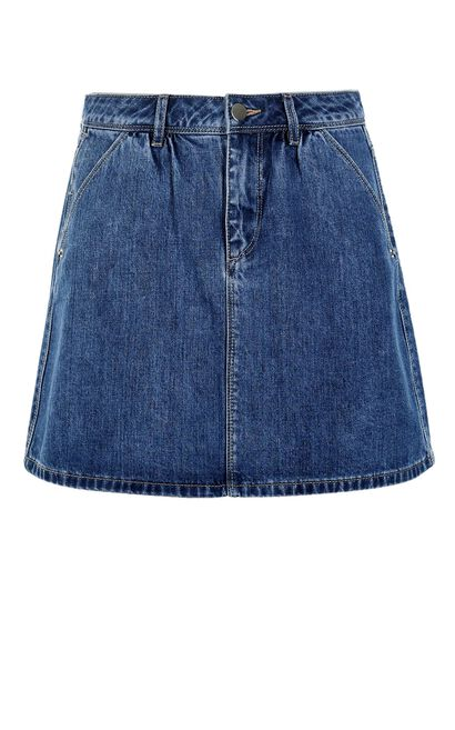 ONLY Women's Spring New A-lined Denim Skirt|117237507, Blue, large