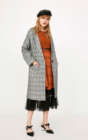 ONLY Women's Spring Mid-length Plaid Blazer |118108532