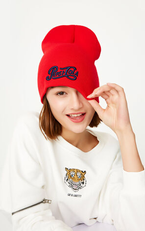 ONLY Women's Embroidered Knit Hat X Pepsi|117386515