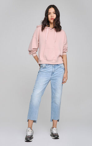 ONLY Women's Spring Beads BF Style Loose Fit Raw-edge Jeans  117149541