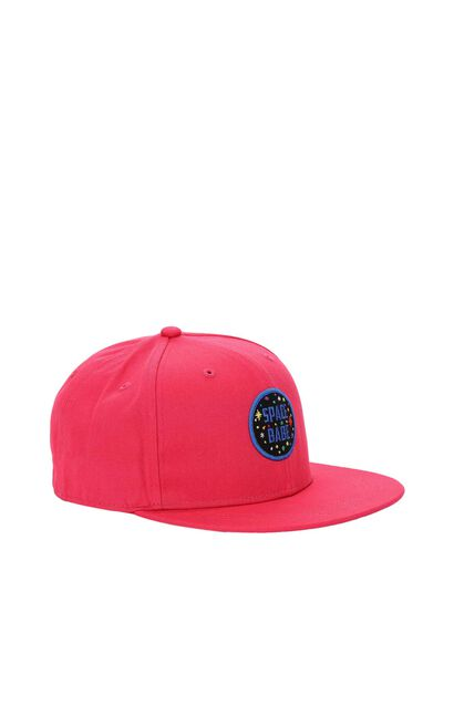 ONLY Women's Cartoon Patch Badge Baseball Cap|117186501, Red, large