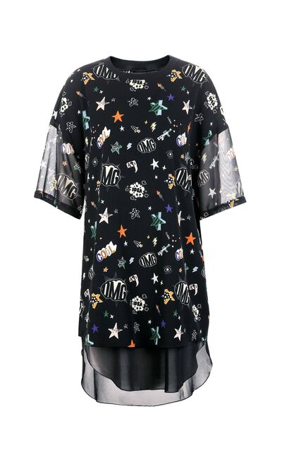 ONLY Summer Two-piece Floral Chiffon Dress |117307591, Black, large