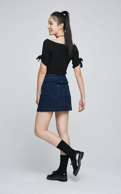 ONLY summer Women's Off-the-shoulder Slim Fit Elbow Sleeves T-shirt|117230505, Black, large
