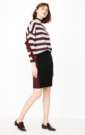 ONLY 2019 Women's Loose Fit Striped Pullover Sweater |118113522