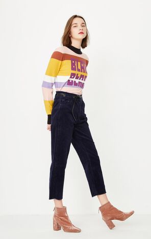 ONLY Women's Spring Loose Fit Raw-edge Casual Crop Pants |11816J512