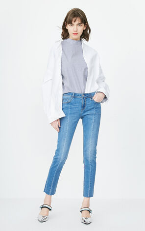 ONLY Women's Summer Low-rise Crop Jeans |118149636