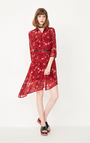 ONLY Summer Two-piece Floral Shirt Dress |117307573