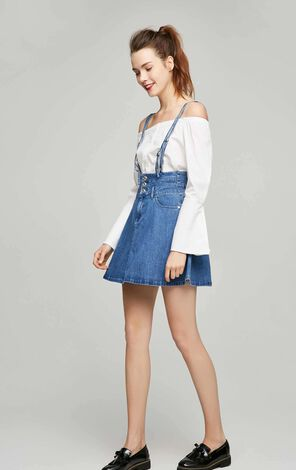 ONLY Women's Spring New High-rise Lycra Denim Overalls|117237506