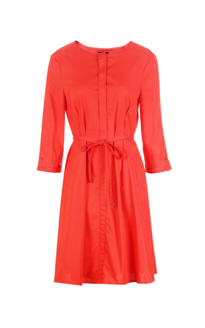 REPEAT2 EBONY A-LINE DRESS(LOVE), Red, large