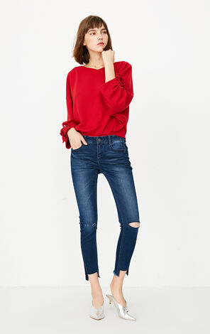 ONLY Women's Autumn Rip Skinny Crop Jeans |117349567