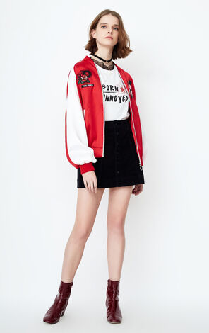 ONLY 2019 Women's Summer Pink Panther Flight Jacket |118136566