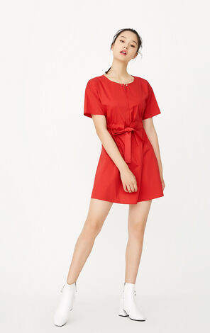 ONLY Women's Summer New Slim Fit Lace-up Short-sleeved Dress|117307559