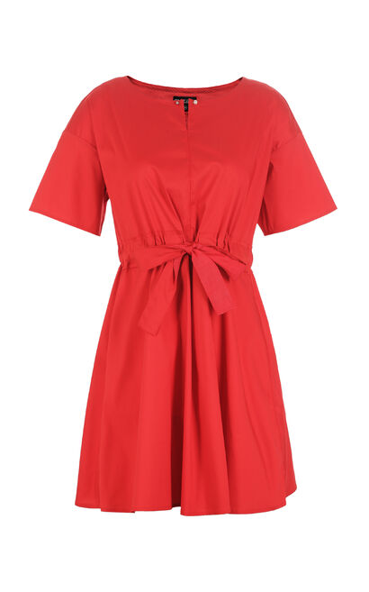 REPEAT4 CLARICE A-LINE DRESS(ESSENTIALS), Red, large