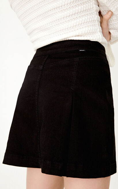 ONLY Summer A-line Single-breasted Pure Color Skirt |117337506, Black, large
