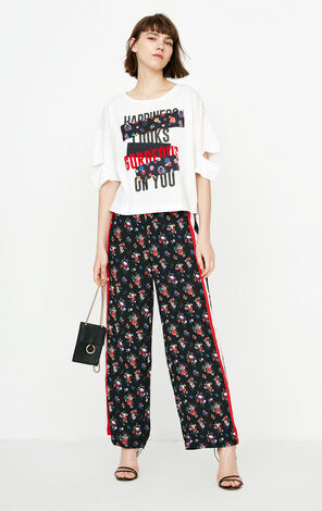 ONLY Summer Women's Loose Fit Letter Print Patch T-shirt|118201511