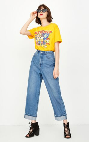 ONLY 2019 Women's High-rise Loose Fit Crop Jeans |118349534