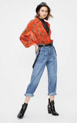 ONLY 2019 AutumnWomen's Low-rise Loose Fit Crop Denim Overalls|11937L501