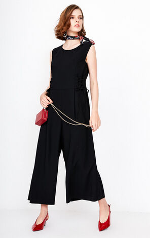 ONLY Women's Summer Lace-up Cinched Waist Pleated Wide-leg Casual Pants |118144503